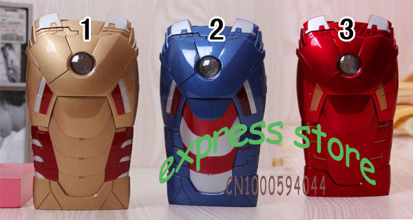 5pcs/lot 3D Avengers Iron Man Mark VII Hard Case Cover Protective Armor With LED Flash For iPhone 5 5G 5S 6TH Free Shipping(China (Mainland))