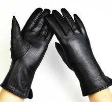 Новые полки оленьей перчатки кашемир подкладка женские модели прямо указывает палец кожаные перчатки завода прямого специального