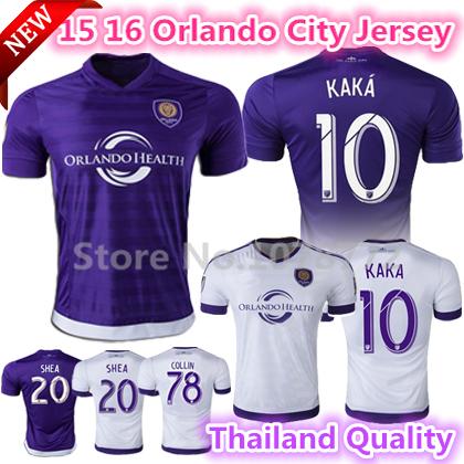 Thai Quality Orlando City 2015 2016 Soccer jersey Home away purple football shirt 15 16 KAKA GERRARD Major League Soccer jerseys(China (Mainland))