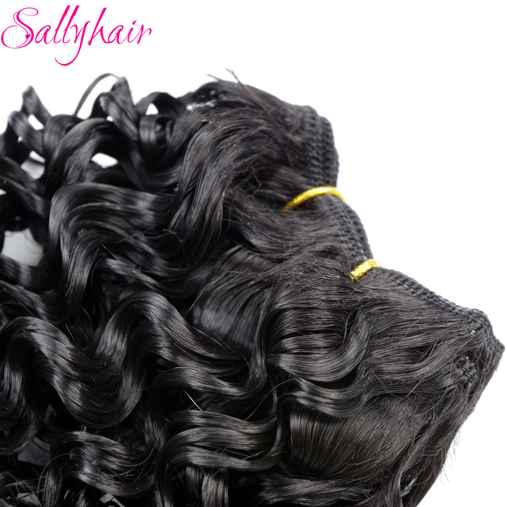 Sallyhair Ombre Color Afro Kinky Curly Crochet Hair Weave Mixed Black Burgundy Synthetic Hair Extensions 3pclot Hair Weavings  (44)