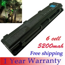 6 cell laptop battery for Toshiba Satellite C50D C800 L830 S800 S840 L855 M801 L805 S845 PA5026U-1BRS PA5027U free shipping