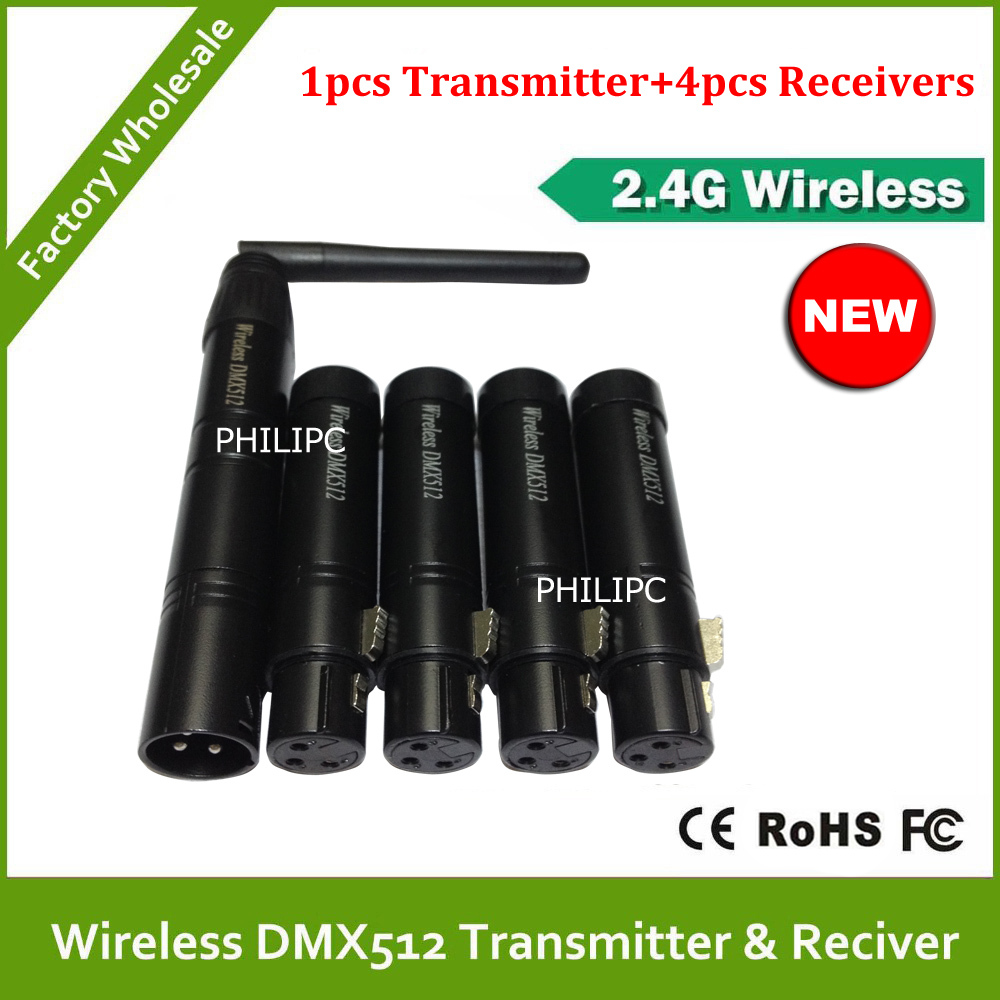 DHL Free Shipping Wireless DMX Transmitter Signal Receiver For 2.4G Wireless DMX512 Controller LED Par Light Moving Head Light(China (Mainland))