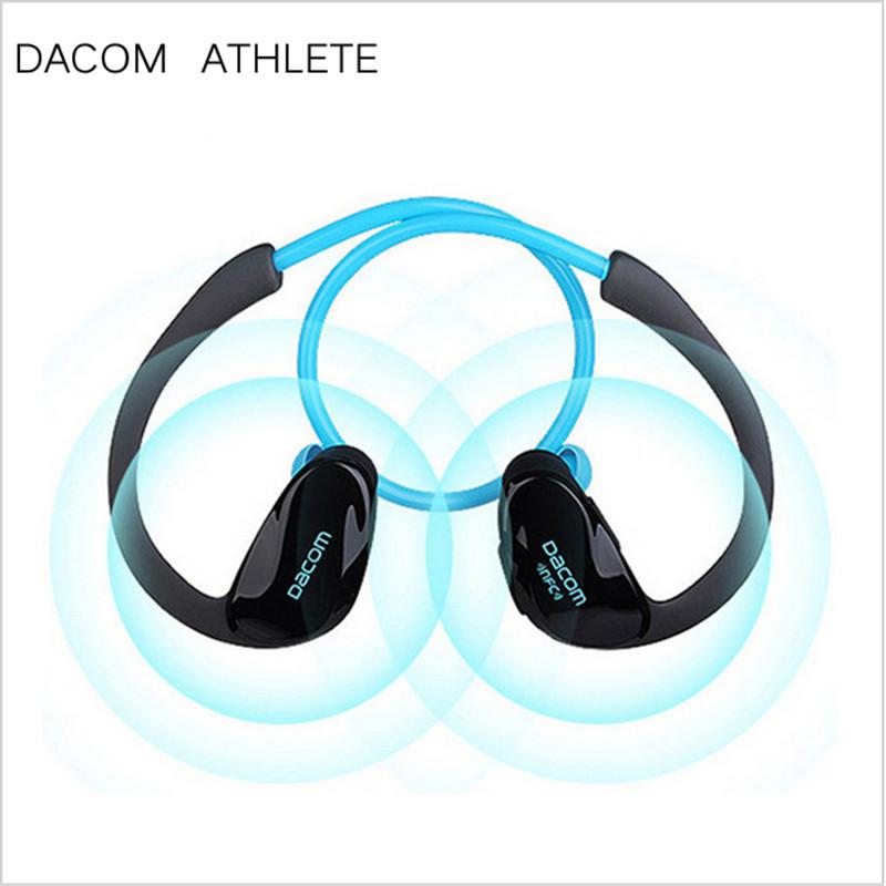 DACOM ATHLETE Bluetooth Headset Ear Phones High Quality Best Earbuds Earphones Stereo Earhook Sport Earphone Wireless Mic NFC(China (Mainland))