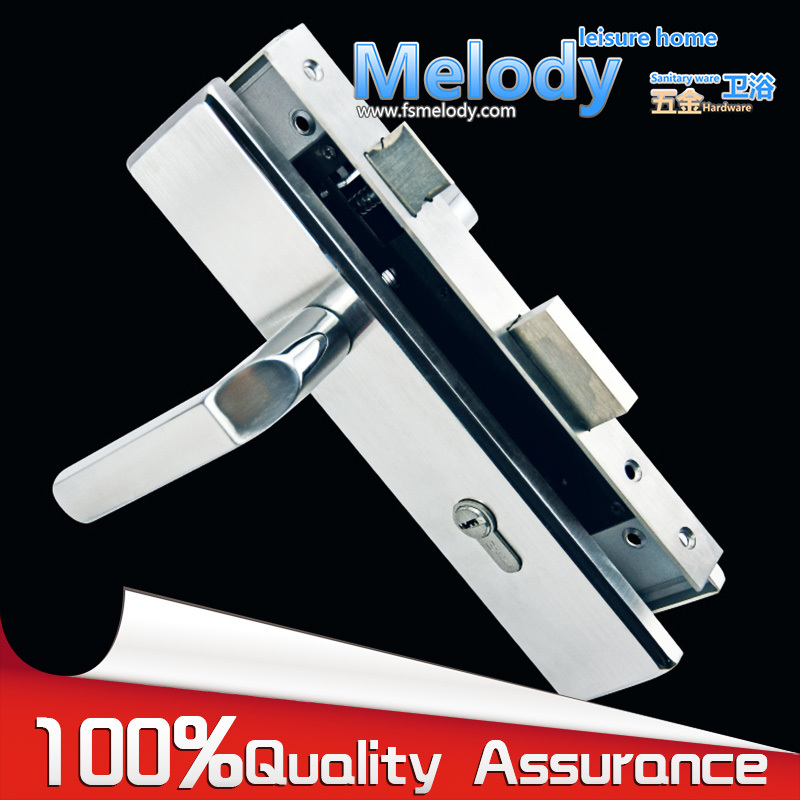 DL-852601 Entry door mortise lock set hardware 304 stainless steel finish Style:Institution(China (Mainland))