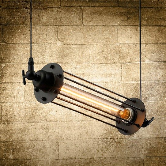 Фотография Loft Style Iron Retro Edison Pendant Light Fixtures Vintage Industrial Lighting For Dining Room Bar Hanging Droplight Lamparas