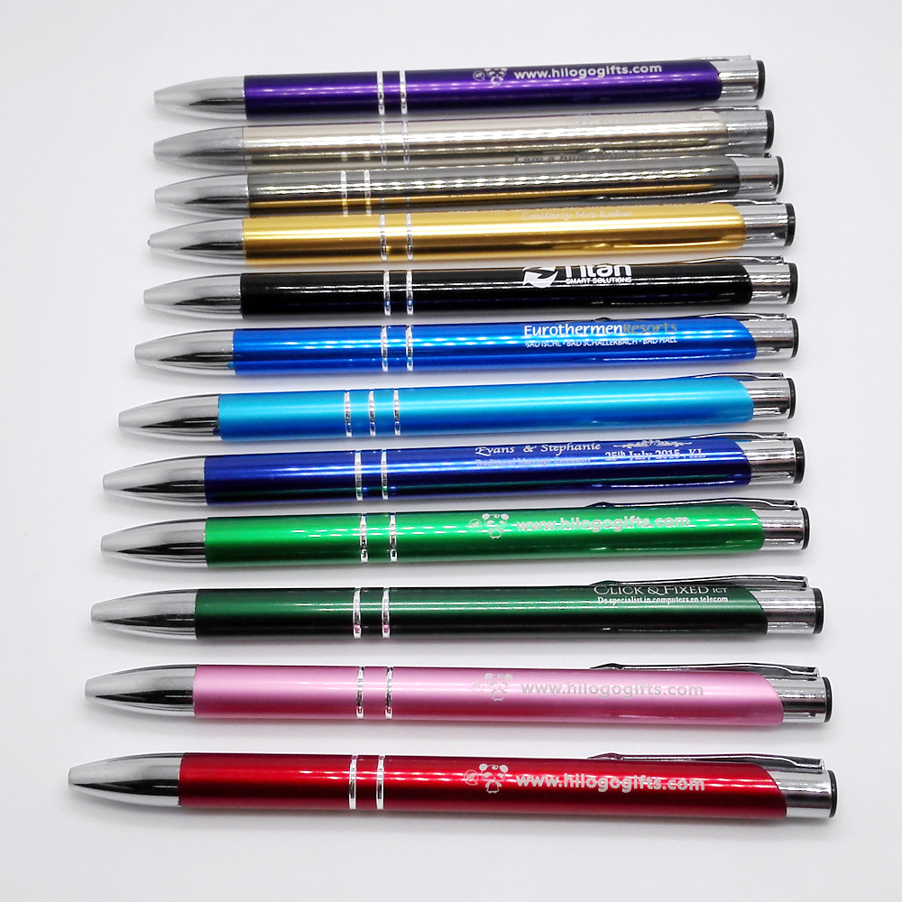 10 Colors metal ball pens for options diy marketing gifts with your text and logo made free chicago gift market free shipping(China (Mainland))