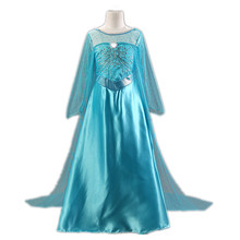Snow Queen Elsa Dress Girls Party Dress robe fille 2015 Summer Dress for Girl princess costume robe enfant Girls Dresses