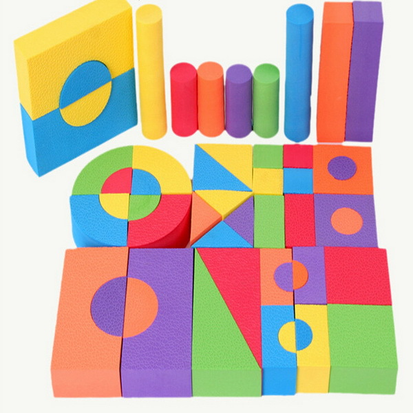 2015 Eva Foam Building Blocks 50 Sponge Software Blocks Sets Birthday Party Gift Baby DIY Toy Assembling Educational Games Toys(China (Mainland))
