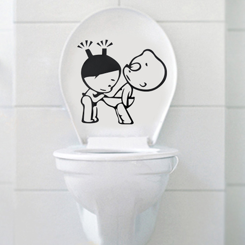Toilet wall stickers toilet stickers decoration 4718(China (Mainland))