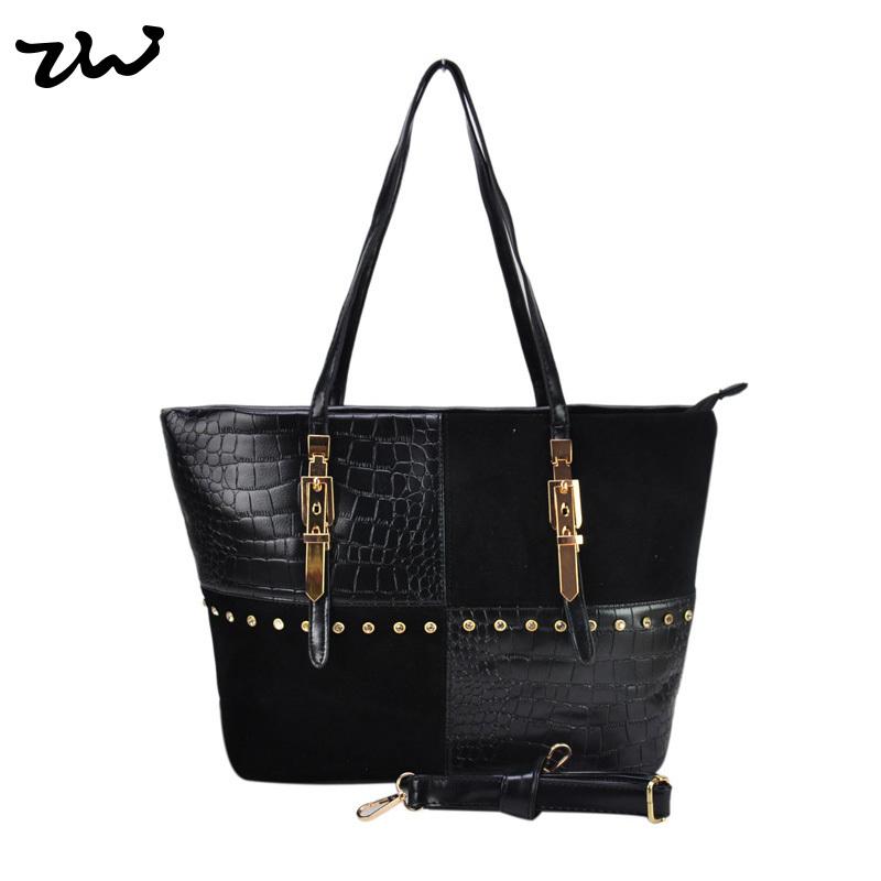 Гаджет   New 2014 Women Leather  Handbag  Metal buckles And Edge Studded Detail Women Shoulder Bag Fashion Tote Bag  VK1561 None Камера и Сумки