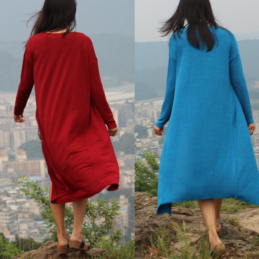 Gray Black Red Free Shipping Cardigan Women Sweater casual Crochet Poncho Plus Size Coat Women long Sweaters vestidos Cardigans(China (Mainland))