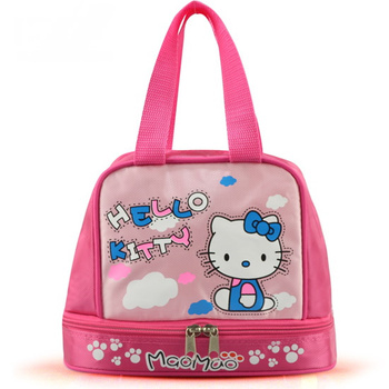 Special Offer Picnic bag Free shipping 2015 Hot sale Hello Kitty Waterproof lunch bag lovely women's lunch box bag Bento bags