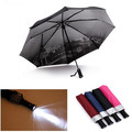 Multifunction LED Umbrella Rain Women Parasol Sunshade UV Umbrella Men Flashlight Umbrella Fully Automatic Flashlight Umbrella