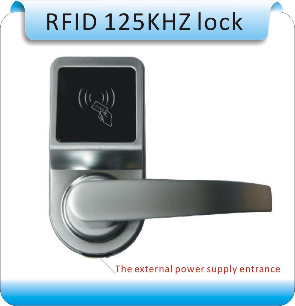 2014 newset DIY RFID 125KHZ ID card Electronic lock/single tongue intelligent electronic locks+10pcs key card<br><br>Aliexpress