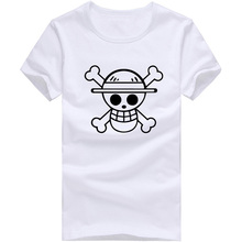 Cheap Fashion T Shirts Men One Piece Luffy Straw Hat Tshirt Cotton Normal O Neck Tops Tee Anime Clothing Short Sleeve(China (Mainland))