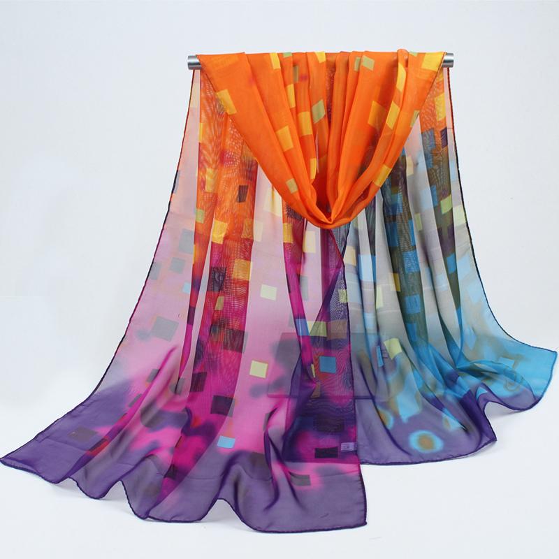 fashion scarf women scarves chiffon scarves soft smooth thin silk scarf for women phasmina wholesale women shawl freeshipping(China (Mainland))