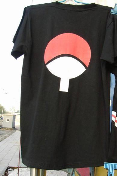Naruto T-Shirt SASUKE Cosplay Costume Anime Black(China (Mainland))