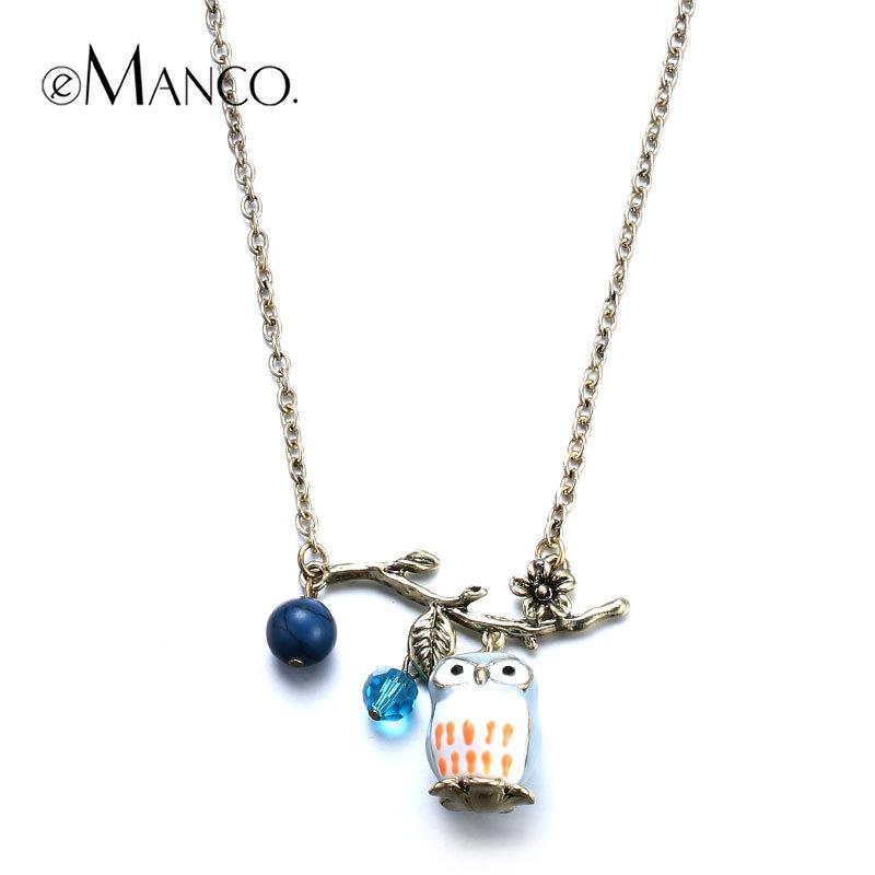 //Cute pendant owl long chain necklace// fashion jewelry minimalistic 2015 cute animal necklace zinc alloy jewelry eManco(China (Mainland))