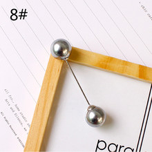 Della Ragazza di Modo di Imitazione Pearl Spilla Spilli Donna di Alta Qualità Liscia Glassata Perla Accessori Regalo Semplice Doppio Perle Spille(China)