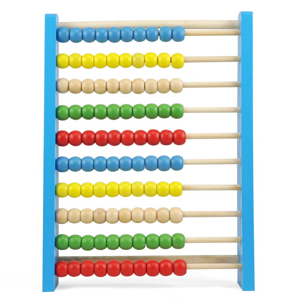 FJS! UK CUTE Childrens Large Wooden Bead Abacus Counting Frame Educational Maths Toy(China (Mainland))
