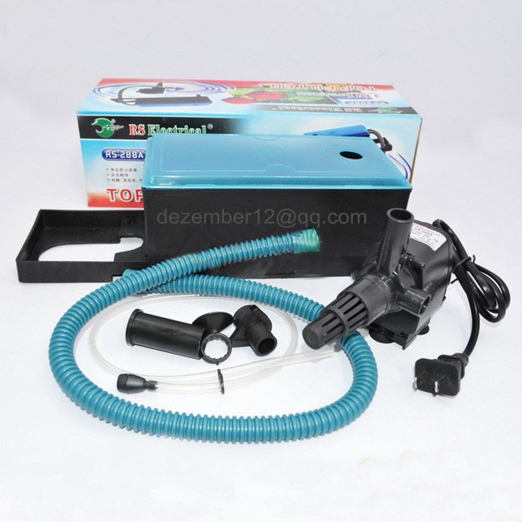 Ac220 240v 15w 1200l h aquarium top filter pump plastic for Water pump filter box