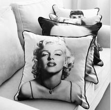 European Style Audrey Hepburn&Monroe Printed  Cushion/Throw Pillow