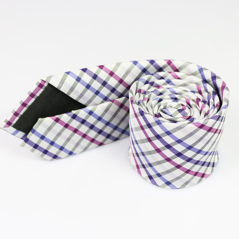 New Brand Christmas Gift Polyester Silk font b Plaid b font Necktie Business or Wedding Shirt