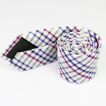 New Brand Christmas Gift Polyester Silk Plaid Necktie Business or Wedding Shirt or Suit Ties for Men 145*6cm Skinny Tie Hot Sale