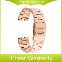 22mm Watch Band Clasp Buckle Bracelet Strap Replacement for Motorola Moto 360 1 1st Gen 2014 Smartwatch Black Rose Gold Silver