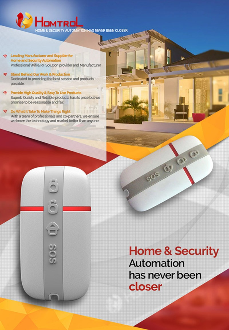 Homtrol Home & Office Security RF Remote Controller for IP Camera with Privacy Function a