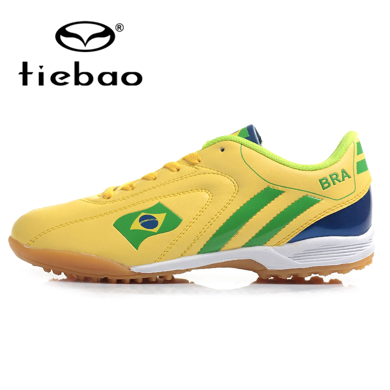 TIEBAO Professional Outdoor Soccer Shoes Men Women TF Turf Sole Football Boots National Flag Adults Athletic Training Shoes(China (Mainland))