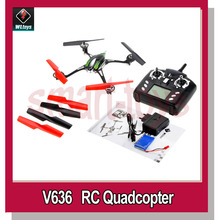 WLtoys V636 helicopter Skylark 4CH 6-Axis Gryo RC Quadcopter RTF 2.4GHz Headless Mode with LED Light(China (Mainland))