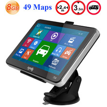 Xgody 704 7 inch Car GPS Navigation 8GB Truck Sat Nav GPS Navigator Europe Navigasyon with Sunshade Lifetime Free Map Update