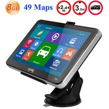 Xgody 704 7 inch Car GPS Navigation 8GB Truck Sat Nav GPS Navigator Europe Navigasyon with Sunshade Lifetime Free Map Update
