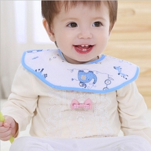 Buy 3 Colors Baby Bibs Round Neck Burp 360 Degree Cloths Baby Infant Bibs Toddler Kids Girl Boy Baby Product for $1.35 in AliExpress store