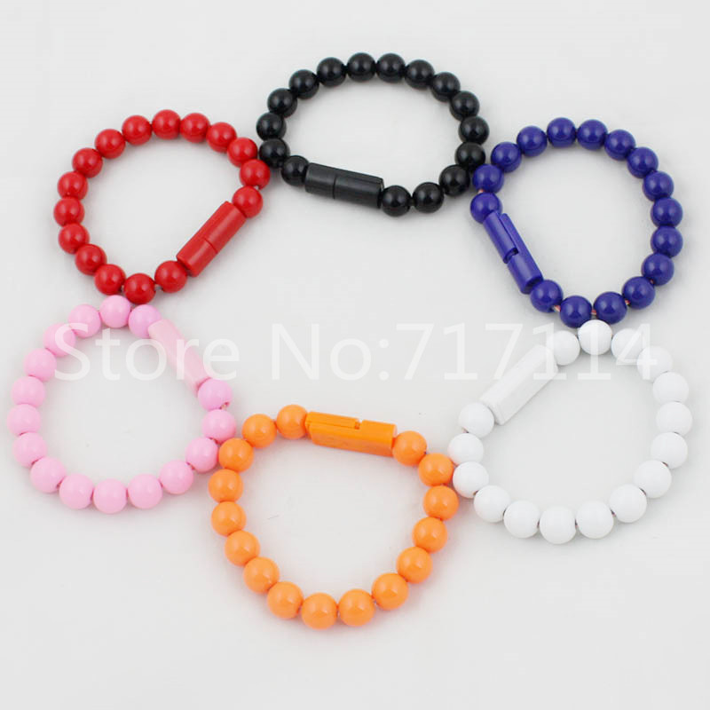 Free shipping Multicolors Unique Design Buddha Beads Wearable Bracelet Micro USB cable for SAMSUNG HTC LG Sony Motorola Nokia(China (Mainland))
