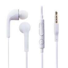 100% New White Headphone Earphone With Volume&Mic For Samsung Galaxy S2 S3 SIII Galaxy Note Galaxy Note2 flat cable earphone
