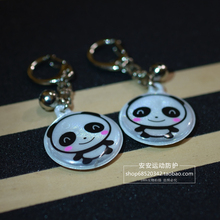 1 piece New Fashion Cute Multi Color Smiley Face Reflective Key Chain Key Ring Bag Hanging Pendant(China (Mainland))