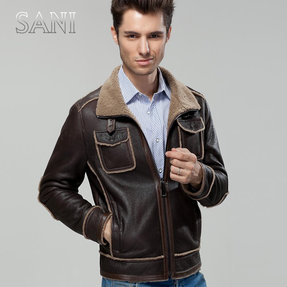 Sani genuine high end men 39 s leather leather coat fur fur for High end men s dress shirts
