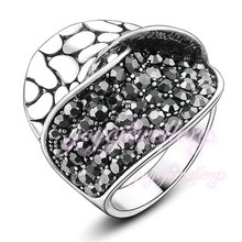 Fashion Snake Skin and Pave Setting 2 Layers Bang Rings Women Party Daily Accessories Jewelry R853(China (Mainland))