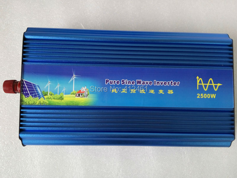 2500W Pure Sine Wave Inverter specially design to power motor, 1P air-conditioner, refrigerator etc inductive loads(China (Mainland))
