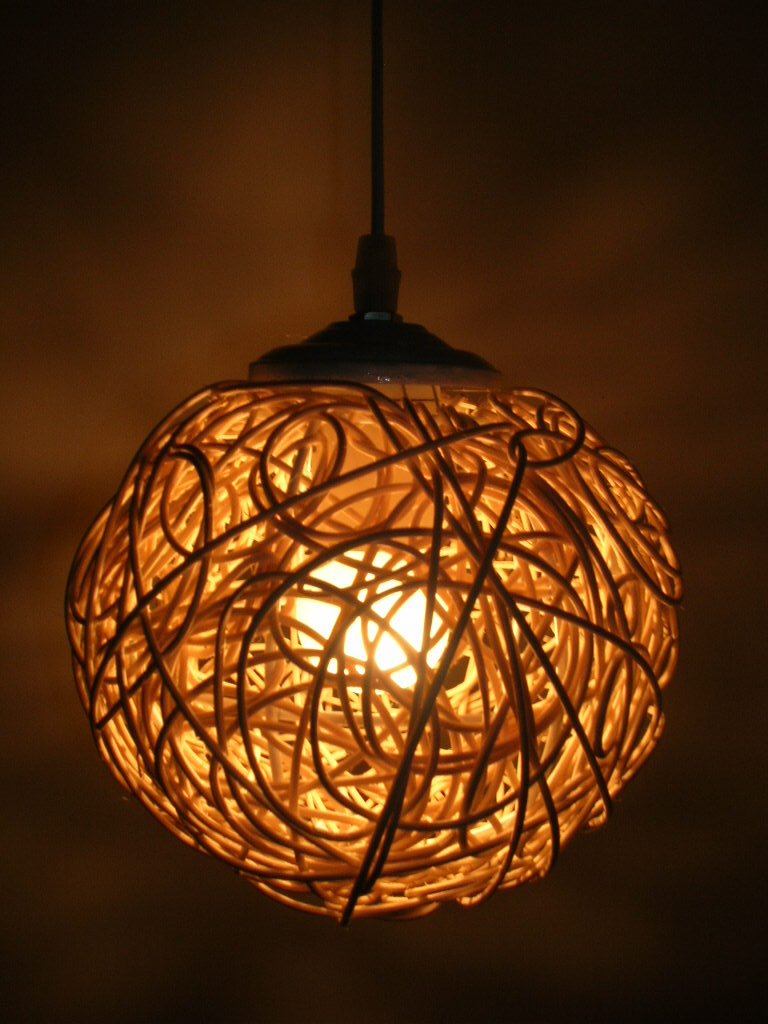 Set Rattan pendant lights woven by hand Suitable for dining room ...