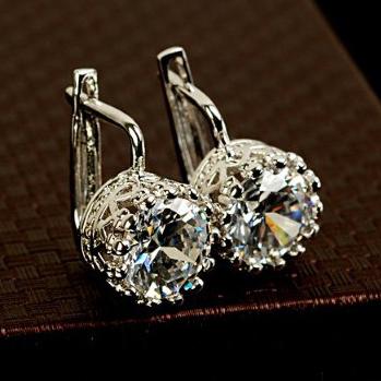 Серьги-гвоздики Italina Rigant 1,25 18K Brincos grandes ouro 1074 серьги висячие italina rigant 18k 100% swa e061709