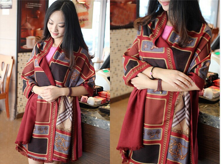 2015 Autumn Winter Scarves Women Brand Shawls Free Shipping Cashmere Star Style Blanket Scarf