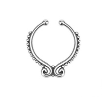 2 Pcs New Arrival Hoop Nose Hoop Nose Rings Body Piercing Jewelry Fake Septum Clicker Non