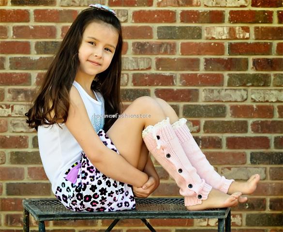 Детей дети девочки кнопка крышка кружева бедра - сапог носок гетры колено высокие чулок YM013725