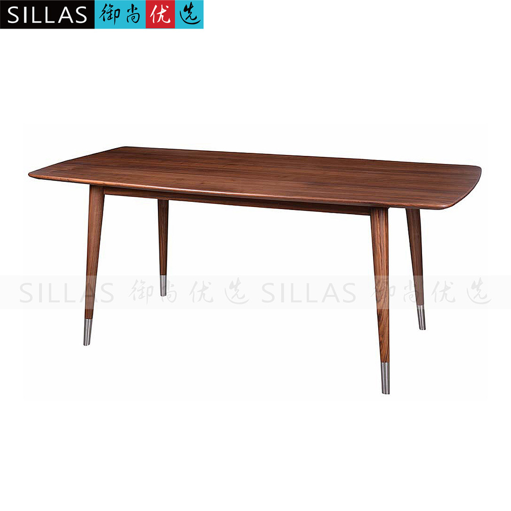 Walnut furniture solid wood dining table rectangular what for Dining table length