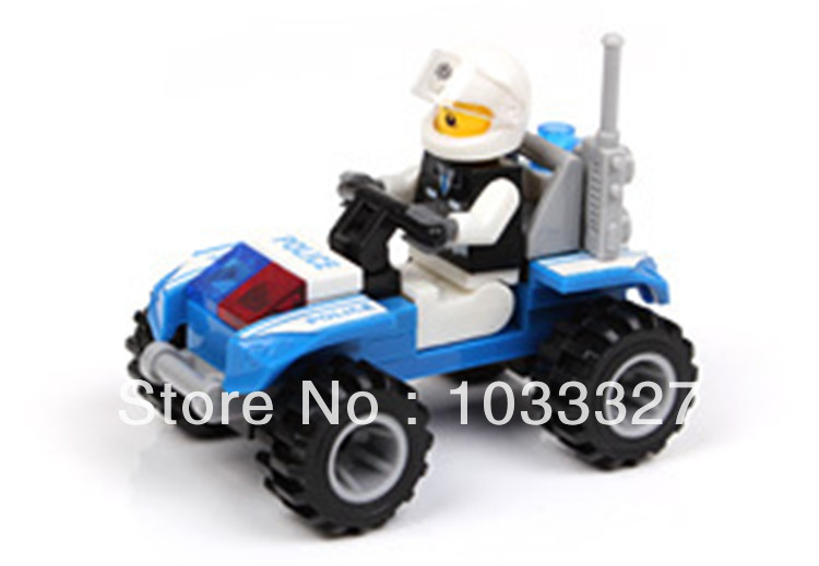 Building blocks, DIY Police dune buggy model toy, Enlighten Child, Christmas gift, Block Toys, Free Shipping(Hong Kong)