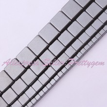 """Buy Natural Hematite Beads Square Smooth Stone Strand 15"""" 3,4,6,8,10mm DIY Necklace Jewelry Making,No Magnetic Free for $2.39 in AliExpress store"""