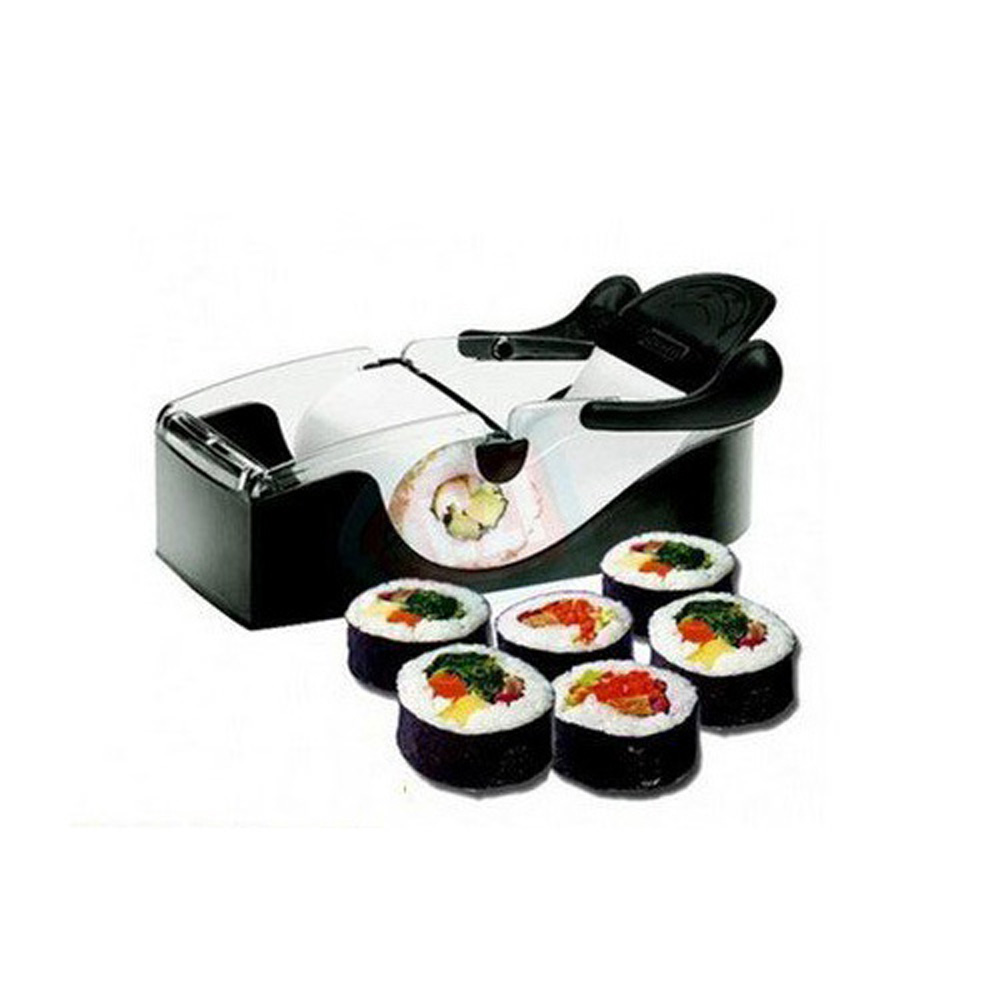 USA Stock! New Black Easy Perfect Roll Maker Sushi Magic Cutter Roller Rice Plastic Mold(China (Mainland))